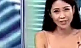 台湾美女主播夏琳爆红网络 性感主持大露酥胸