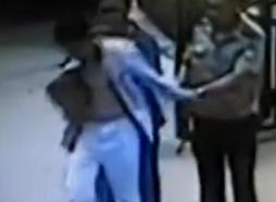监拍男子穿女护士服冒充医护行窃当场被擒