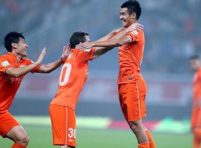 2014中超第26轮山东鲁能2-0上海绿地 全场精彩集锦