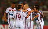 欧冠-拜仁7-1大胜罗马 罗本2球1助攻穆勒莱万传射