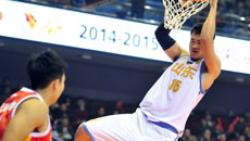 2014-15CBA第4轮-山东男篮97-84八一男篮 第二节实况