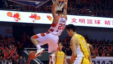 2014-15CBA第6轮-山东男篮113-98浙江广厦 第四节实况