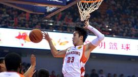 2014-15CBA第9轮-山东男篮97-88上海男篮 第四节实况