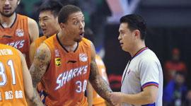 2014-15CBA第9轮-山东男篮97-88上海男篮 第三节实况