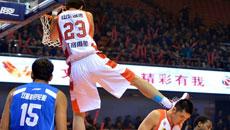 2014-15CBA第10轮-山东男篮105-101青岛男篮 第一节实况
