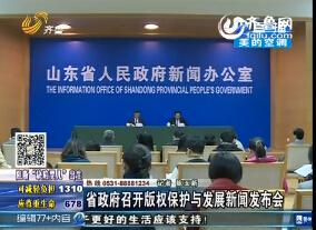 山东省政府召开版权保护与发展新闻发布会