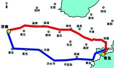 """济青高速通行费拟""""北升南降"""""""