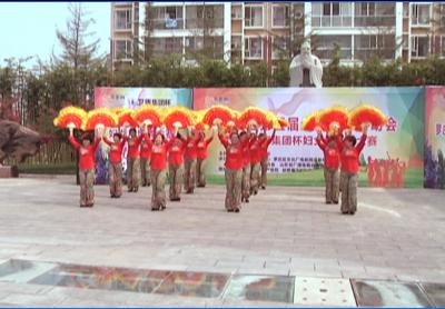 临沂首届妇女广场舞大赛罗庄赛区——罗庄区海霞艺术团《红歌四联唱》
