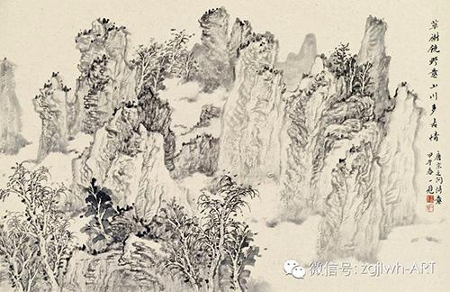 寻回失落的文心 ——读潘一见的山水画图片
