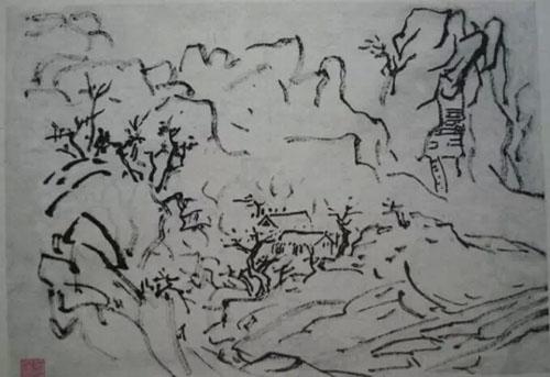 手绘桃花壁纸古画