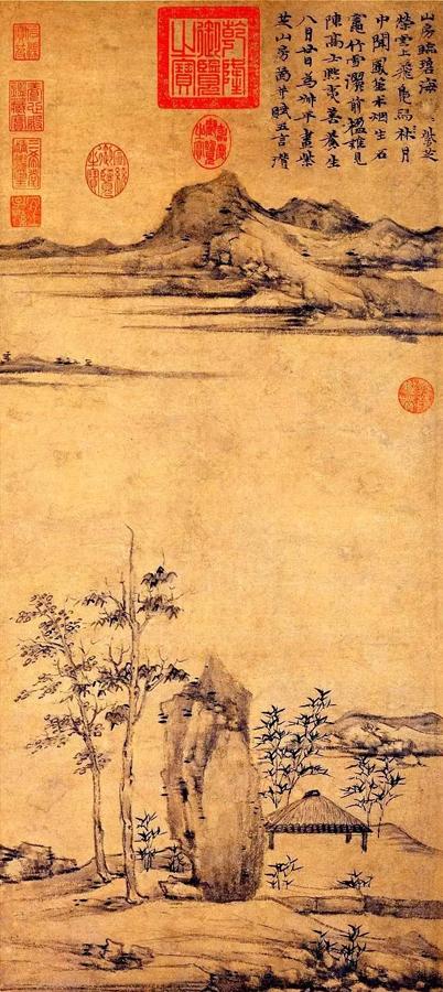 倪瓒《紫芝山房图》台北故宫藏