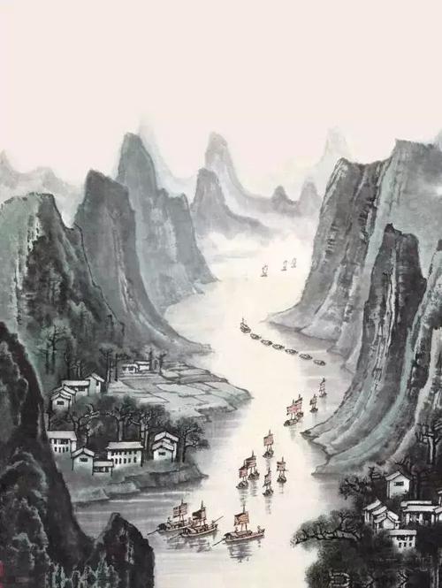 壁纸 风景 国画 500_665 竖版 竖屏 手机
