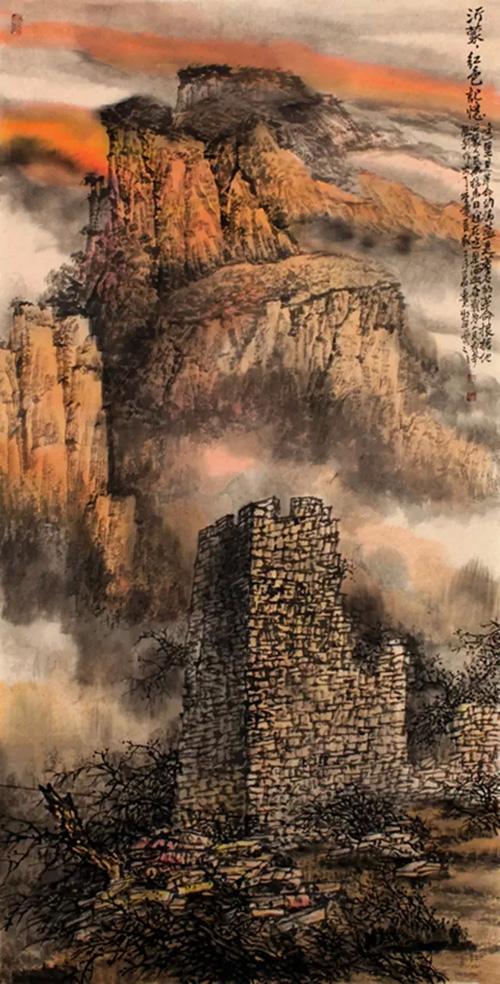 纪念抗战胜利70周年全国中国画作品展获奖作品欣赏图片