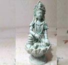 影青瓷观音菩萨像
