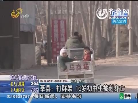 莘县:打群架 16岁初中生被刺身亡