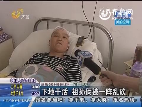 泗水:下地干活 祖孙俩被一阵乱砍