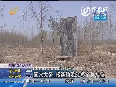 曲阜:墓穴大盗 接连偷走20多个骨灰盒