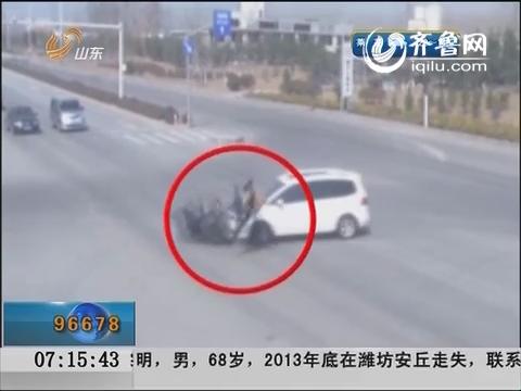 枣庄:路口闯红灯 后果很严重