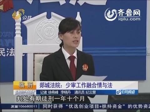 天平之光  临沂:郯城法院 少审工作融合情与法
