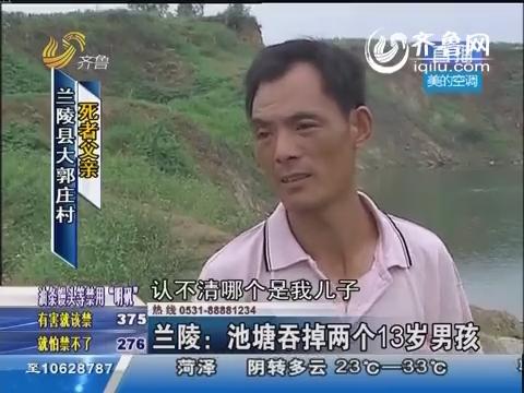 兰陵:池塘吞掉两个13岁男孩