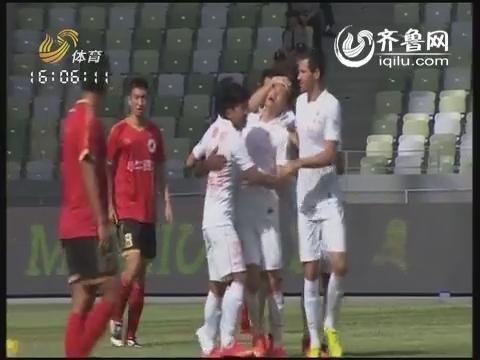 足协杯-鲁能5-0深圳全场集锦  深足球员罢赛吕征梅开二度