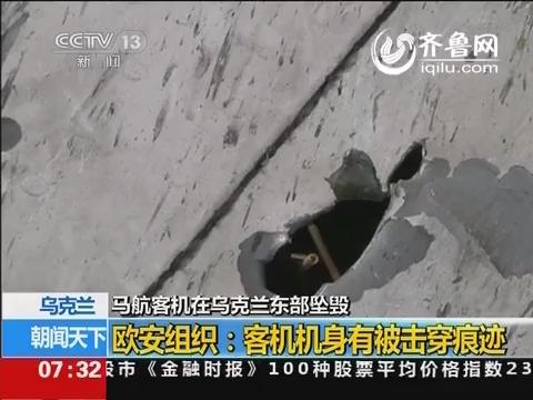 欧安组织:马航客机机身有被击穿痕迹