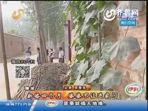 聊城:新婚四个月 婆婆不让进家门