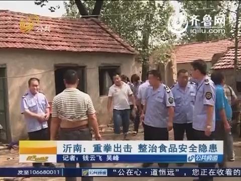 沂南:重拳出击 整治食品安全隐患