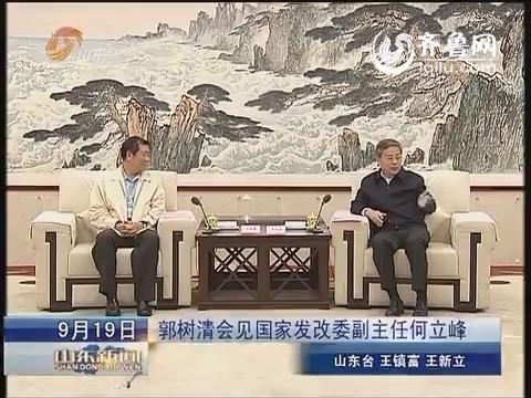 郭树清会见国家发展改革委副主任何立峰