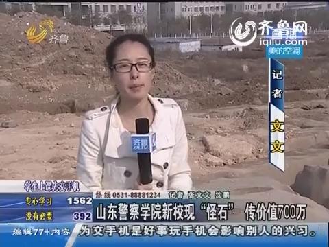 """山东警察学院新校现""""怪石""""传价值700万"""