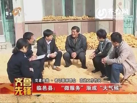 """20141124《齐鲁先锋》:临邑县""""微服务""""渐成""""大气候"""""""