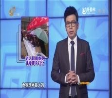 20141126《语众不同》:老人冒雨参赛 评委撑伞打分