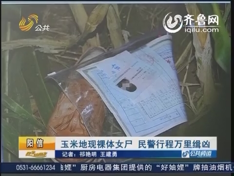 阳信:玉米地现裸体女尸 民警行程万里缉凶