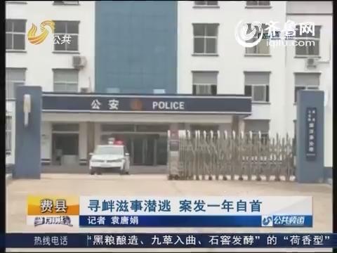 费县:寻衅滋事潜逃 案发一年自首
