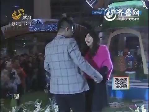 """现场实况:刘春红的甜蜜时刻 奥运冠军求婚现场变成""""小女人"""""""