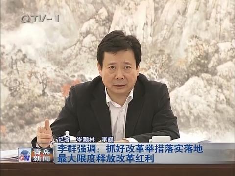 李群强调:抓好改革举措落实落地最大限度释放改革红利