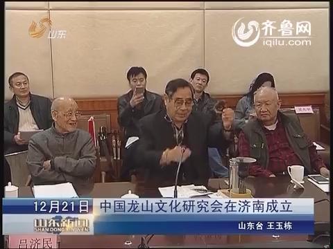 中国龙山文化研究会在济南成立