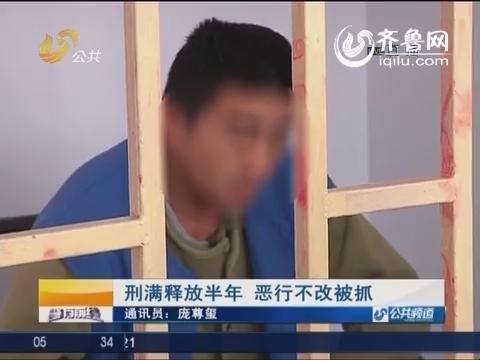 日照:刑满释放半年 恶行不改被抓