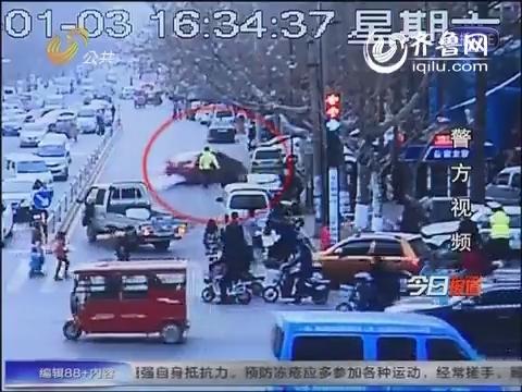 莒南:19岁司机疯狂醉驾连撞9辆车