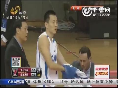 2014-15CBA第29轮-青岛双星108-91山东高速男篮 第三节实况