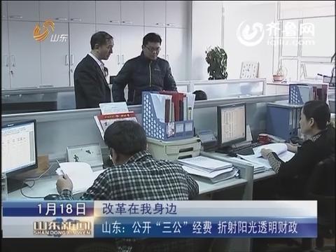 """【改革在我身边】山东:公开""""三公""""经费 折射阳光透明财政"""