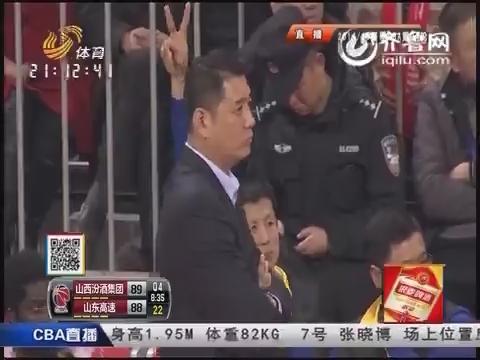 2014-15CBA第34轮-山西男篮106-104山东男篮 第四节实况
