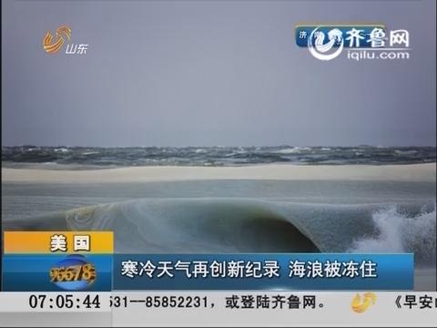 美国:寒冷天气再创新纪录 海浪被冻住