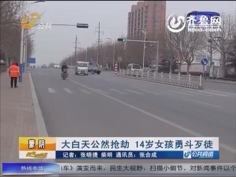 蒙阴:大白天公然抢劫 14岁女孩勇斗抢劫犯