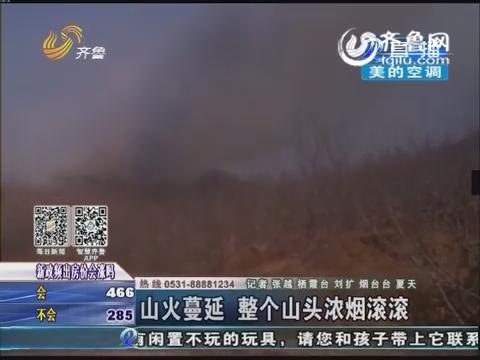 栖霞:农妇烧荒引发山火 面对火情被吓哭