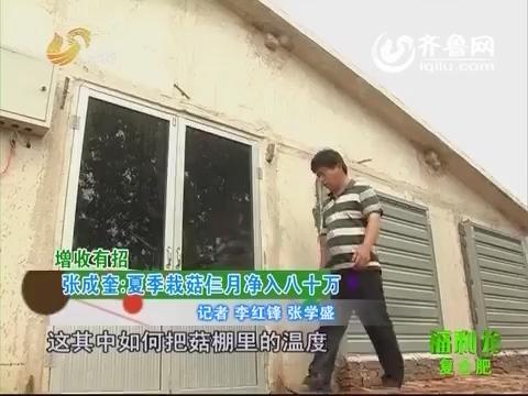 乡村新看点:张成奎:夏季栽菇仨月净入八十万