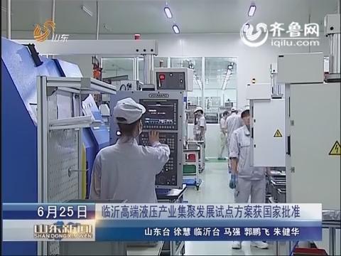 临沂高端液压产业集聚发展试点方案获国家批准