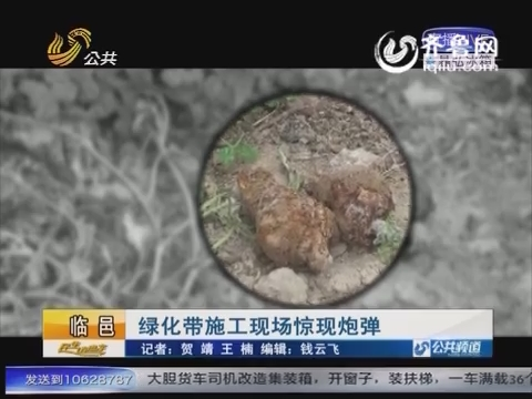 临邑:绿化带施工现场惊现炮弹