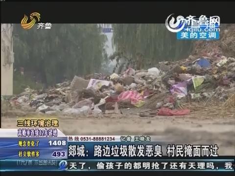 郯城:路边垃圾散发恶臭 村民掩面而过