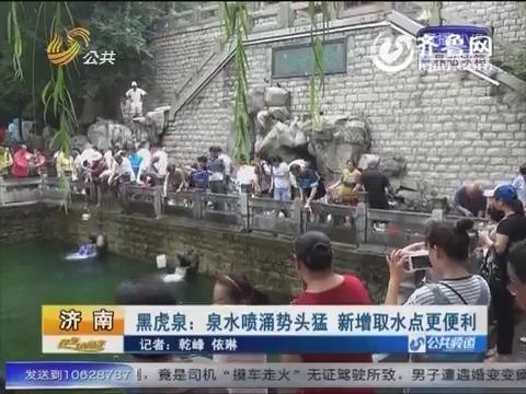 济南黑虎泉:泉水喷涌势头猛 新增取水点更便利